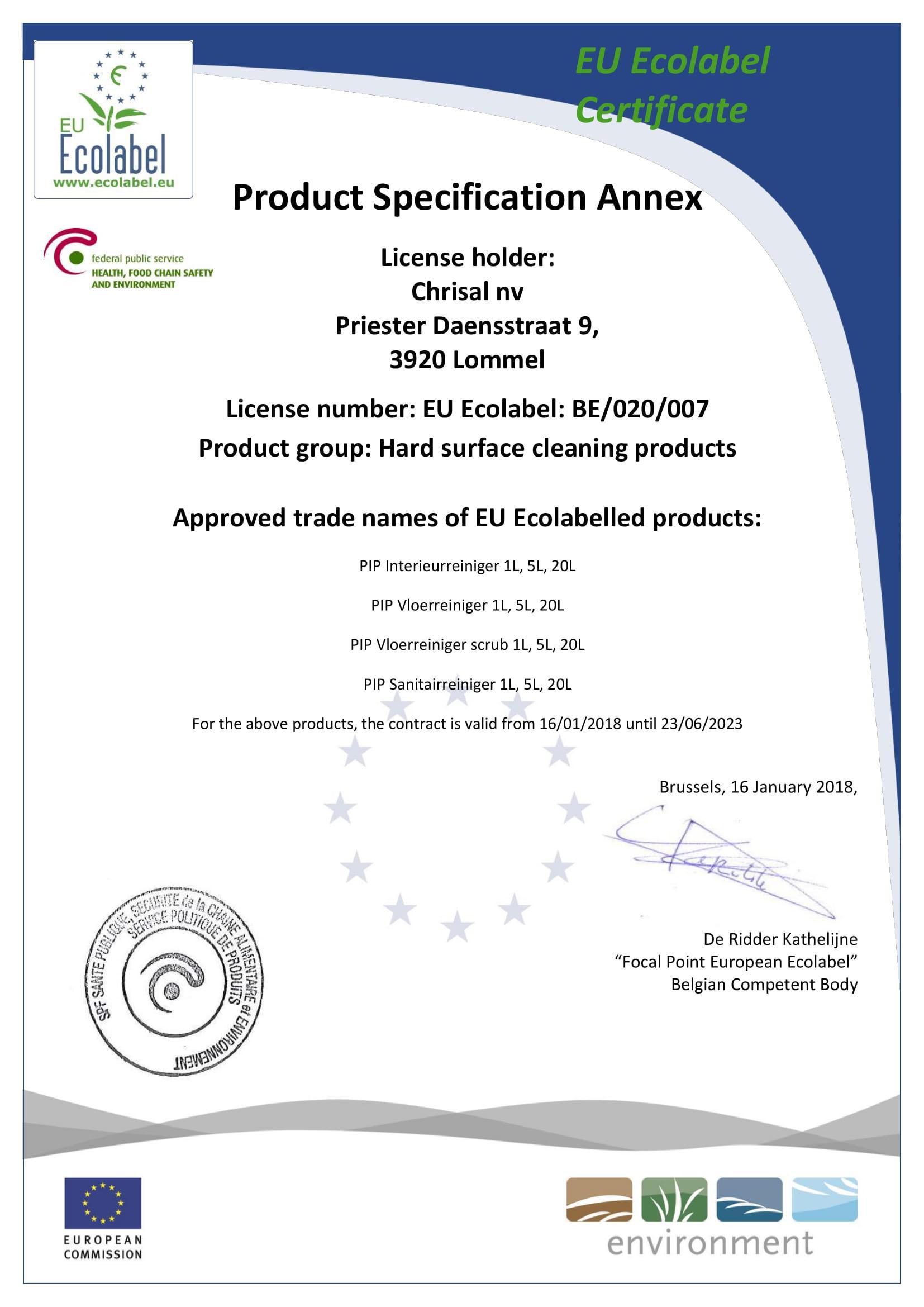 Сертификат - Ecocleaner - 2