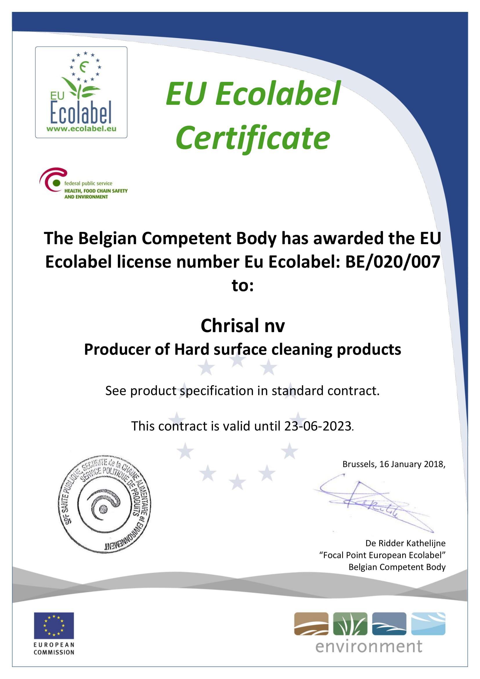 Сертификат - Ecocleaner - 1